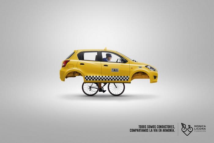 巴拿马交通安全部平面广告