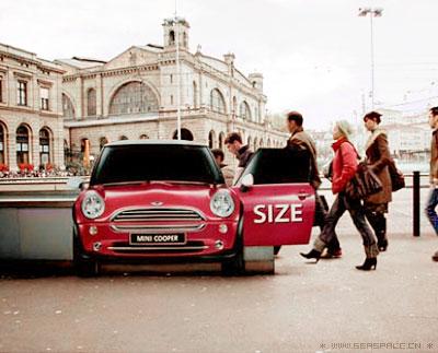 宝马 mini车 广告 size 创意策划 平面 饕餮 中高清图片