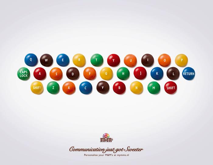Mm巧克力平面广告 创意策划 平面饕餮 中国广告人网站http Www Chinaadren Com