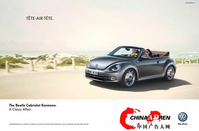 甲壳虫敞篷车平面广告 2高清图片